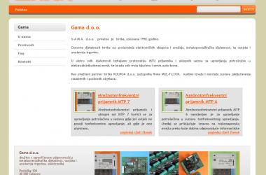 Website Gama.hr