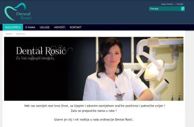 Internet stranica Dental Rosić